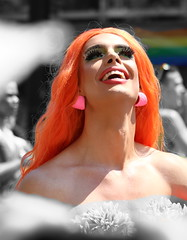 2018_08_05_8749 (Talisman Pickering) Tags: gaypride vancouver 2018 rainbow dragqueen people street selectivecolor colorsplash