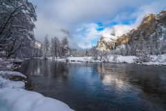 Yosemite Valley View El Capitan Merced River Bridalveil Falls Blue Skies Snow Winter Photography! Sony A7R III & FE 16–35 mm G Master Wide-Angle Zoom Lens SEL1635GM Winter Snow Fine Art!  Yosemite National Park Winter Snow California Landscape Photography (45SURF Hero's Odyssey Mythology Landscapes & Godde) Tags: fine art landscape photogaphy california photography el state elliot mcgucken sunset afs ed high res 4k 8k yosemite valley view capitan merced river bridalveil falls blue skies snow winter sony a7r iii fe 16–35 mm g master wideangle zoom lens sel1635gm national park