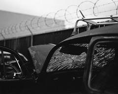 Smashed (mattt1970) Tags: graflex centurygraphic rh10 fujiacros100 hc110b nikkorm105mmf35 film analog blackandwhite bw mediumformat 6x7
