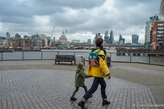 Look at that bag (daveseargeant) Tags: london street child bag father st pauls cathedral leica x tip 113 south bank