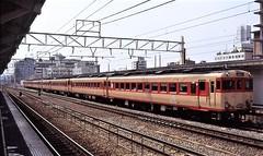 Japan Rail DMU local passenger tarin at Kyoto in the mid-90s (Tangled Bank) Tags: jr japan rail japanese asia asian urban train station pasenger equipment stock kyoto 1990s 90s railway railroad