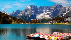 Lake Misurina in the Dolomites (Ostseetroll) Tags: belluno geo:lat=4658393956 geo:lon=1225414253 geotagged ita italien misurina misurinasee dolomiten dolomiti dolomites alpen alps sorapiss olympus em5markii lagodimisurina lakemisurina see lake
