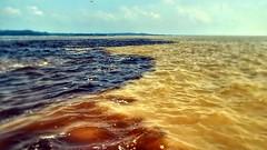 Rio Amazonas - Rio Negro (sileneandrade10) Tags: sileneandrade rionegro rioamazonas encontrodaságuas riosolimões mar água manaus simplicidade viagem turismo photoedition photoart sonydschx400v sony
