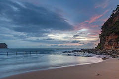 Dawn at the Ocean Pool (Merrillie) Tags: daybreak sunrise nature water oceanpool macmasters centralcoast morning sea newsouthwales rocks earlymorning nsw dawn clouds ocean landscape cloudy waterscape coastal macmastersbeach outdoors seascape australia coast sky waves