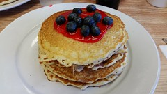Springfield Avenue Cafe in Bolivar, Missouri (Adventurer Dustin Holmes) Tags: bolivarmo bolivar missouri ozarks dining breakfast pancakes pancake food 2019 indoor plate blueberry redsauce blueberries fruit delicious yummy edible whiteplate polkcounty springfieldavecafe springfieldavenuecafe cafe cafes