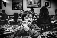 Pizza Night (broadswordcallingdannyboy) Tags: mono bw city manhattan nyc ny newyork eos7d leonreillyphotography leonreilly copyright donotcopy mood atmosphere newyorkcity usa eastcoast americafuckyeah america bwcity light newyorkminute newyorkstateofmind newyorkmono nycinbw pizza