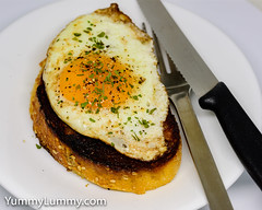 Fried egg on butter fried sourdough toast (garydlum) Tags: blackpepper butter egg eggs friedegg iodisedsalt sourdoughbread canberra australiancapitalterritory australia au