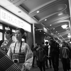 Kyoto street! (takana1964) Tags: streetphotography snap streetsnap street snapshot streetshot citysnap citystreet city cityphotography monochrome blackandwhite bw kyotocity japan olympus