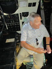 Guest visitor Hugh Prior in the AEO seat inside Vulcan B.2 bomber XL426 at Southend Airport 17.06.18 (Trevor Bruford) Tags: vrt vulcan restoration trust xl426 southend airport avro nuclear bomber cold war plane jet aircraft airplane aviation raf tin triangle delta lady royal air force hugh prior electronics officer aeo black buck 1 mission xm607 port stanley falklands 1982 visitor