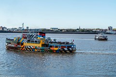 Farewell to the Dazzle Ferry (Phil Longfoot Photography) Tags: ferry merseyside liverpool mersey merseyferry tourism rivermersey
