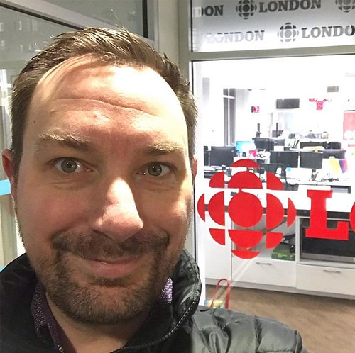Getting set to go live on air @cbclondonont this morning at about 8:20am - if you're in #ldnont tune in to 93.5FM to hear all about #MondayMotivation - The Exhibit, on Tuesday-Saturday at @tapcreativityon