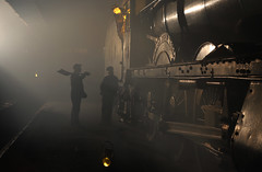 Timeline events photo shoot (Andrew Edkins) Tags: 6998 burtonagneshall hallclass greatwestern gwr canon geotagged light shed didcotrailwaycentre steamtrain crew people railwayphotography oxfordshire england winter 2019 january timelineevents