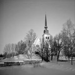 Åmot old church (cotnari73) Tags: pajtás boccamera achromat 6x6 120film jch400 d76 developed åmot ockelbo gävleborg sweden