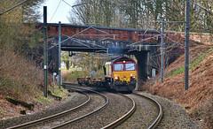 Flat Lite (whosoever2) Tags: uk united kingdom gb great britain england nikon d7100 train railway railroad february 2019 kidsgrove redbull a34 dbcargo class66 66197 6k32 stoke marcroft arpley freight