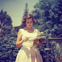 Found Photograph (poavsek) Tags: california mediumformat analog bokeh usmail kodacolor 120 film found 1950s