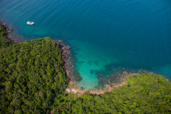 From above (fredrik.gattan) Tags: coast beach jungle forest green blue clear tropic paradise trash boat sea seascape landscape above phu quoc vietnam