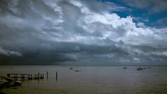 Threatening Storm Over Long Island Sound (See ericgrossphotography.com) Tags: storm longislandsound newengland clouds power drama x100f captureonepro sky light