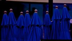 Clandestine Sect (Mark A. Morgan) Tags: sects cults blue indigo ventura california umbrellas markamorgan bald
