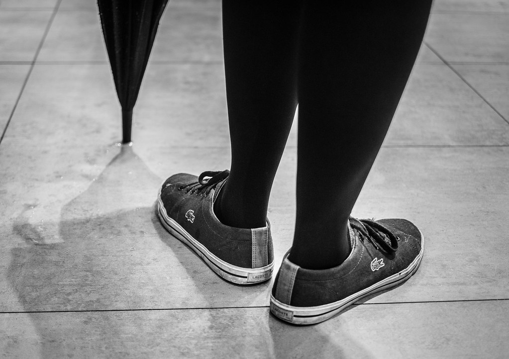 483524bfe0ef Waiting crocs (Lensjoy) Tags  lensjoy lacoste shoes bw monochrome waiting  legs umbrellatip plimsolls