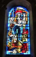 Blois, Loir-et-Cher: vitrail de Pierre Gaudin dans le déambulatoire (Marie-Hélène Cingal) Tags: france centrevaldeloire loiretcher blois 41 baznīca église kirik iglesia church chiesa bažnyčia kirche kostol eliza bloie centre