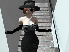 Entrance no.378 (Curiosse) Tags: short dress sleeveless hat black stamp 2019 march glamourous exclusive swank new release luxeparis femenine classy