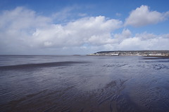 Clouds and Patterns in the Sand (Derek Morgan Photos) Tags: somerset westonsupermare clouds beach patterns