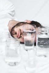 Verre d'Eau | 1 (_ALBX_) Tags: water portrait selfportrait man naturallight conceptual creative photography photographer canon canon80d sigma 30mm albxphoto albx art