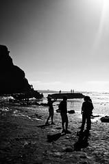 Enjoying the beach (mgschiavon) Tags: blackandwhite blackwhite bw sea beach california nature outdoors sunny contrast