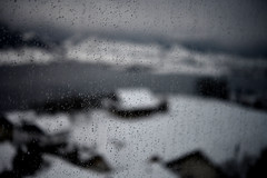 Impressions of Switzerland (Harald Philipp) Tags: switzerland zug aegerisee lake forest farm trees hills clouds snow rain window droplets defocus outoffocus nikon d850