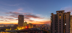 Sunrise time (kevinho86) Tags: cloudy canon colour sky 天空 雲 city cityscapes skyline urban 空 城市 landscape scenery scape canton guangzhou downtown magichour 建築 twilight art wideangle 天際線 longexposures lightshadow sunrise eos6d architecture 24mm