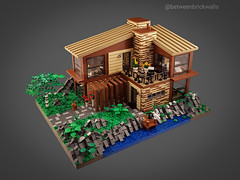 Scandinavian Sea House MOC. Front. (betweenbrickwalls) Tags: lego afol house houses architecture homephotography homes design archipelago architecturemodel architecturephotography legophotography toys toyphotography bricks minifigurescale building