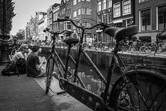 Old bike in Amsterdam (gotan-da) Tags: blackwhite schwarzweiss noiretblanc blackandwhite bw monochrome amsterdam