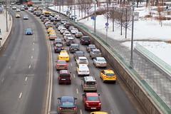 (Бесплатный фотобанк) Tags: москворецкая набережная россия москва зима пасмурно такси пробка