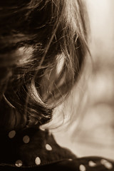 Classy (Evergreen Photoblog) Tags: vintage canon77d canon bw hair dots classy girl woman sephia