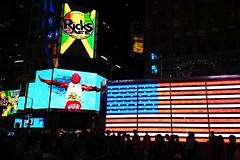 NY Manhattan by night (t.horak) Tags: comme commercials usa ny manhattan light dark jamaica flag colours