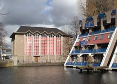 Rotterdam - Doopsgezinde kerk (Grotevriendelijkereus) Tags: rotterdam architectuur architecture zuid holland netherlands nederland city town gebouw building wederopbouw church kerk baptist doopsgezinde vermaning shakehands