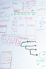"""White board notes, """"Good design adds value faster than it adds cost."""" preach it to me sister, config, scheduling, public sites, web chat, popularity, enumeration, mobile, PacMed Building, Seattle, Washington, USA (Wonderlane) Tags: 9147 whiteboardnotes gooddesignaddsvaluefasterthanitaddscostpreachittomesister config scheduling publicsites webchat popularity enumeration pacmedbuilding seattle washington usa mobile"""