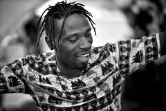 'when the music changes, so does the dance' - African proverb (gro57074@bigpond.net.au) Tags: monochrome monotone mono blackwhite bw 2019 march nikkor 70200mmf28 d850 nikon rhythmic rhythm rhythms drums dance dancing dreadlocks cultural festival sydney parramatta parramasala man candid guyclift