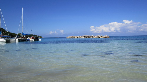 Jamaica -  Ocho Rios: Beach at Dunn's River Waterfall