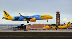 """Went to see """"Dumbo"""" this evening ;-) (Infinity & Beyond Photography: Kev Cook) Tags: spirit airline airbus a321 aircraft airplane airliner dumbo movie promo special color scheme fll fort lauderdale international airport kfll planes photos"""