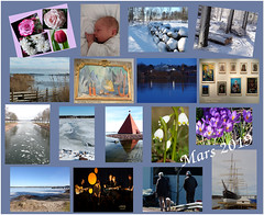 Mars 2019 (evisdotter) Tags: mars2019 flowers grandson snow landscape art ice water spring people pommern collage