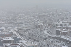 Seattle Snowmageddon 2019 30 (C.M. Keiner) Tags: seattle washington usa city cityscape skyline mountains pacific northwest puget sound snow blizzard winter storm urban