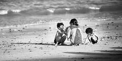 Fun on the beach (M. Nasr88) Tags: beach water blackwhite monochrome bw children fun holidays playing nikon d750 digital fujairah uae kids resort vacation