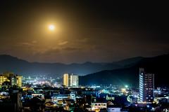 今年最後の満月ー The last full moon of this year (kurumaebi) Tags: yamaguchi 山口市 nikon d750 夜 night landscape moon sky 夜景 月 満月 fullmoon
