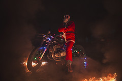 Bad Santa (Vadim.Cojuhov) Tags: portrait story canon 6d sigma 35mm santa happynewyear newyear xmas christmas bad badsanta red orange fire new 2019 face look vsco photography man road drive bike biker moto motocycle sport bmw soviet tires hot wheels composition exposure dof feel moment gm eyes oldschool photographer selfie men lights shadow smoke fog night lowlight