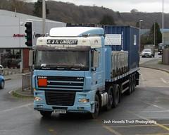 R & R Limbert DK05 GBX at Newtown (Joshhowells27) Tags: lorry daf xf dafxf rrlimbert altrincham flatbed adr hazardouscargo dk05gbx