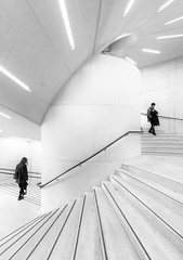 Joined (Dan Portch) Tags: high key hi tate modern london architecture stairs spiral staircase people street building art fine contrast joined light mono monochrome minimal