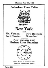 New Haven Railroad - Form 223, July 1926 (ovondrak) Tags: newhaven timetable railroad westchestercounty bronx commuter train newcanaan stamford portchester new rochelle newrochelle harlemriver mountvernon
