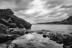 Reflections Of Winter (panos_adgr) Tags: nikon d7200 long exposure photography sounio attica greece black rocks landscape winter seascape sea view water sky clouds motion reflection beach