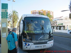 "2018 030705 VOLVO SUNSUNDEGUI SIDERAL  BUS AVANZA PORTILLO BUS 5747 3003GGV ROUTE  M126 TORREMOLINOS TO BENAL. PUEBLO IN BENALMADINA (Andrew Reynolds transport view) Tags: europe spain andalucia transport bus coach transit passenger omnibus diesel ""mass transit"" 2018 030705 volvo sunsundegui sideral avanza portillo 5747 3003ggv route m126 torremolinos to benal pueblo in benalmadina"